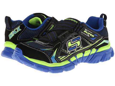 SKECHERS KIDS - Tough Trax - Quads (Little Kid/Big Kid) (Black/Royal) Boy