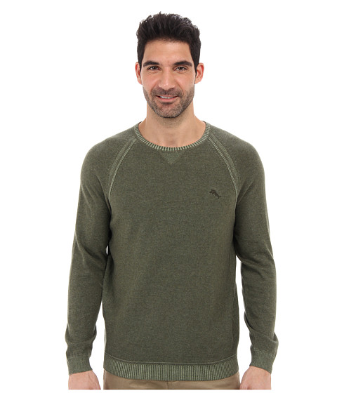 Tommy Bahama - Barbados Crew Sweater (Dark Aspen Green) Men