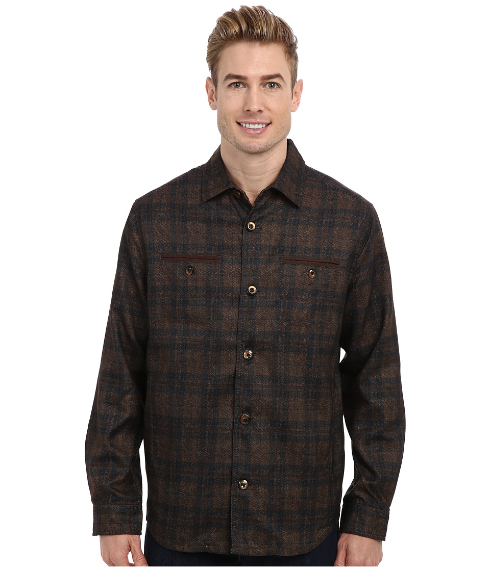 Tommy Bahama - Bergamo Shirt Jacket (Brown) Men's Long Sleeve Button Up