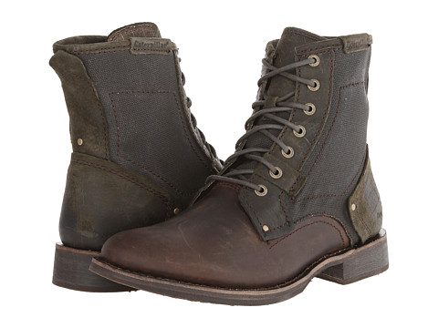 Caterpillar - Abe Canvas (Dark Olive) Men's Lace-up Boots