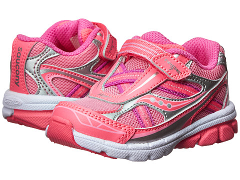 Saucony Kids - Baby Ride 7 (Toddler/Little Kid) (Pink/Pink) Girls Shoes