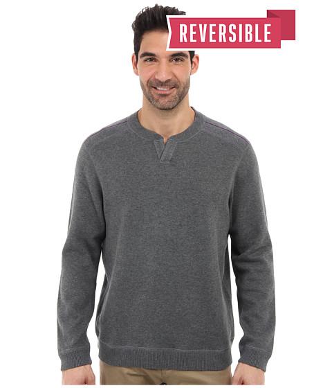 Tommy Bahama - New Flip Side Pro Reversible Abaco Sweatshirt (Fog Grey Heather) Men