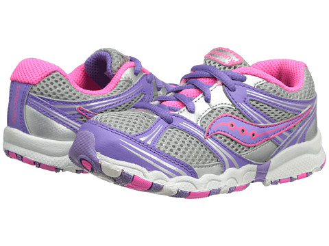 Saucony Kids - Baby Catalyst LTT (Toddler) (Grey/Purple/Pink) Girls Shoes