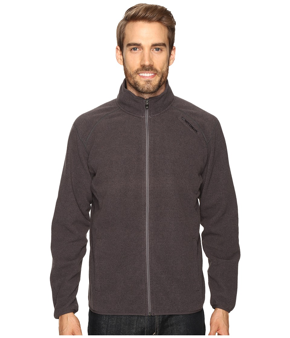 Hot Chillys - Baja Zip with Binding (Charcoal) Men's Clothing