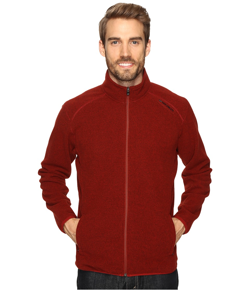 Hot Chillys - Baja Zip with Binding (Ember) Men's Clothing