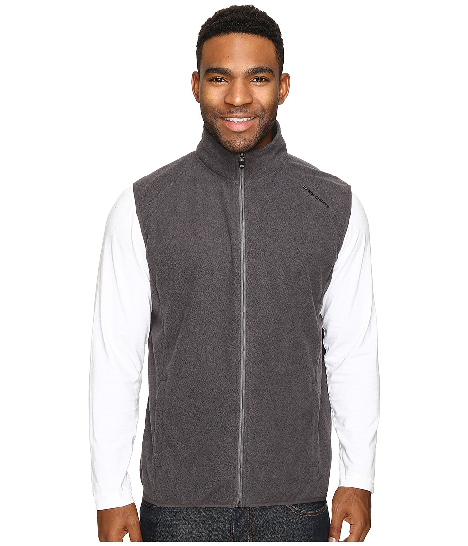 Hot Chillys - Baja Zip Vest w/ Binding (Charcoal) Men's Vest
