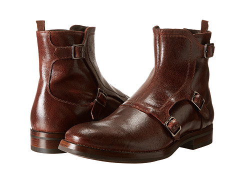 Alexander McQueen - Gable 3 Buckle Boot w/ Red Sole (Terracotta) Men's Boots