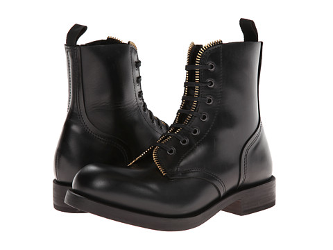 Alexander McQueen - Runway Zip Platform Boot (Black) Men's Zip Boots