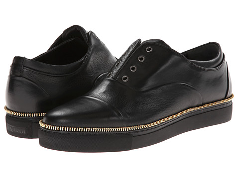 Alexander McQueen - Zip Sole Low Top Trainer (Black) Men's Slip on Shoes