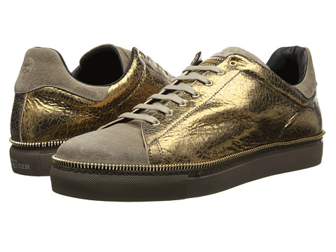 Alexander McQueen - Laces-to-Toe Sneaker (Gold) Men's Shoes