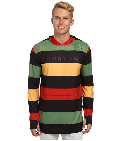 Burton - MB Midweight Hoodie (Pop Stripe Rasta) Men's Sweatshirt