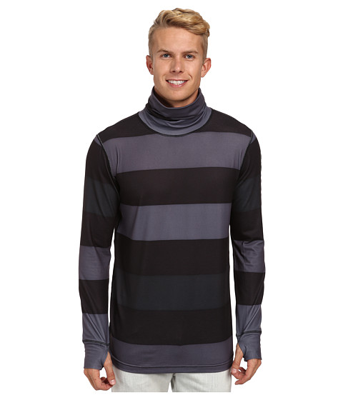 Burton - MB Midweight Long Neck (50 Shades Of Stripe) Men's Long Sleeve Pullover