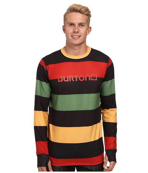 Burton - Midweight Crew (Pop Stripe Rasta) Men's Long Sleeve Pullover