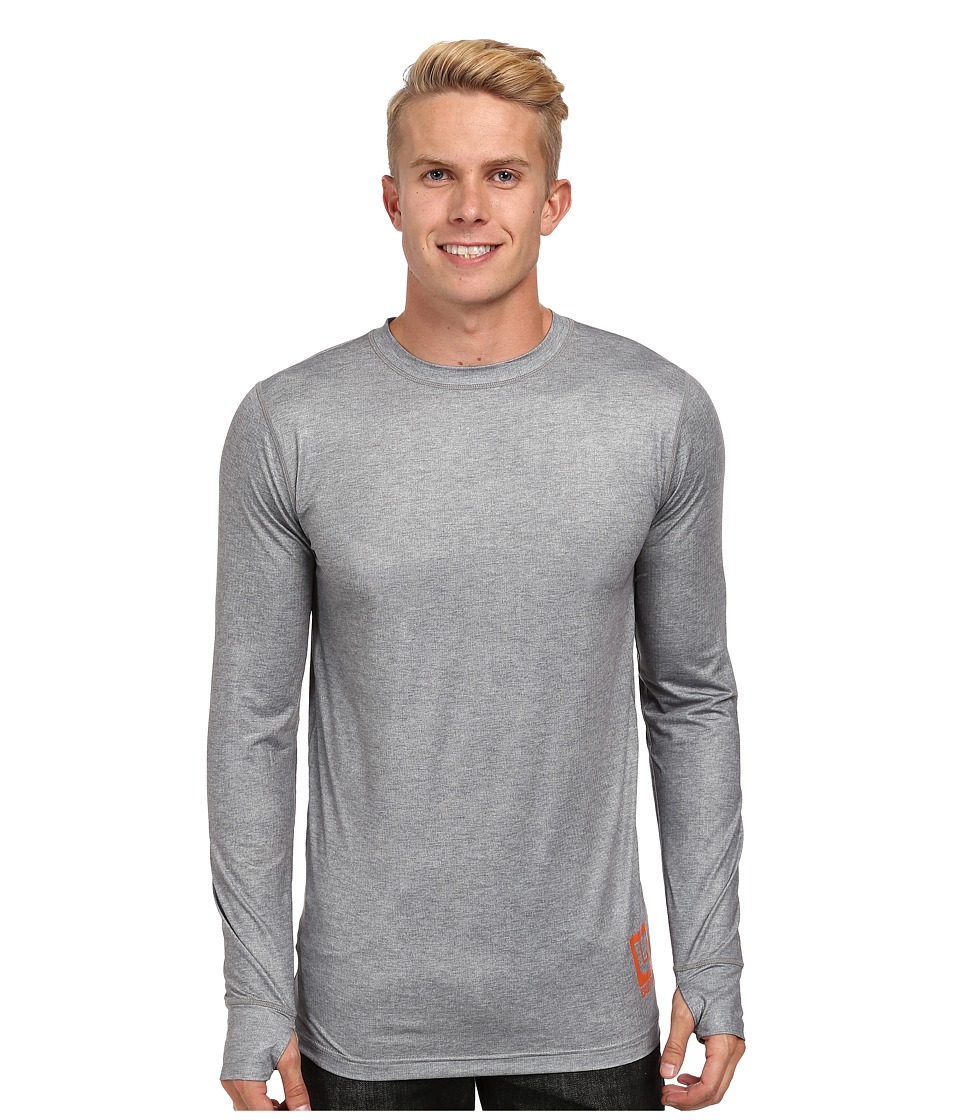 Burton - Lightweight Crew (Heather Grey) Men's Long Sleeve Pullover