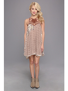 SALE! $84.99 - Save $43 on Free People Eyelet Meadow Top (Taupe Combo) Apparel - 33.60% OFF $128.00