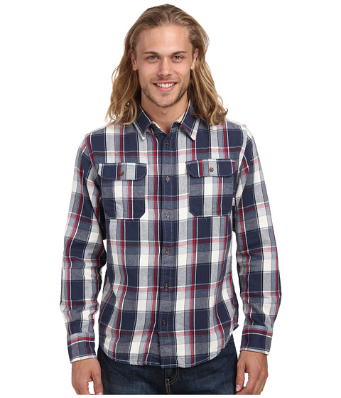 Burton - Brighton L/S Woven (Smoke Blue Impulse Plaid) Men's Long Sleeve Button Up