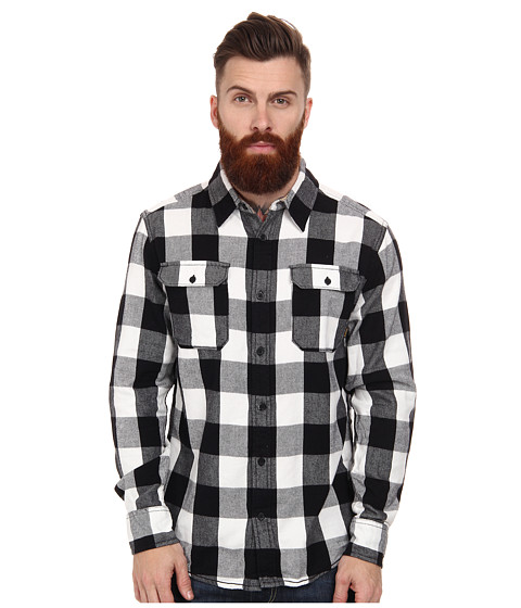 Burton - Brighton L/S Woven (Vanilla Bell Plaid) Men's Long Sleeve Button Up