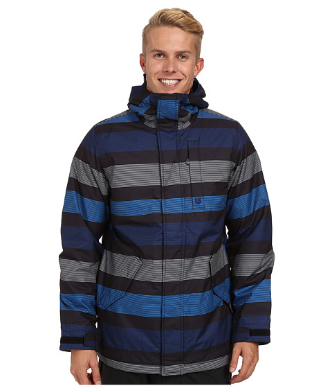 Burton - TWC Greenlight Jacket (True Black Micro Stripe) Men