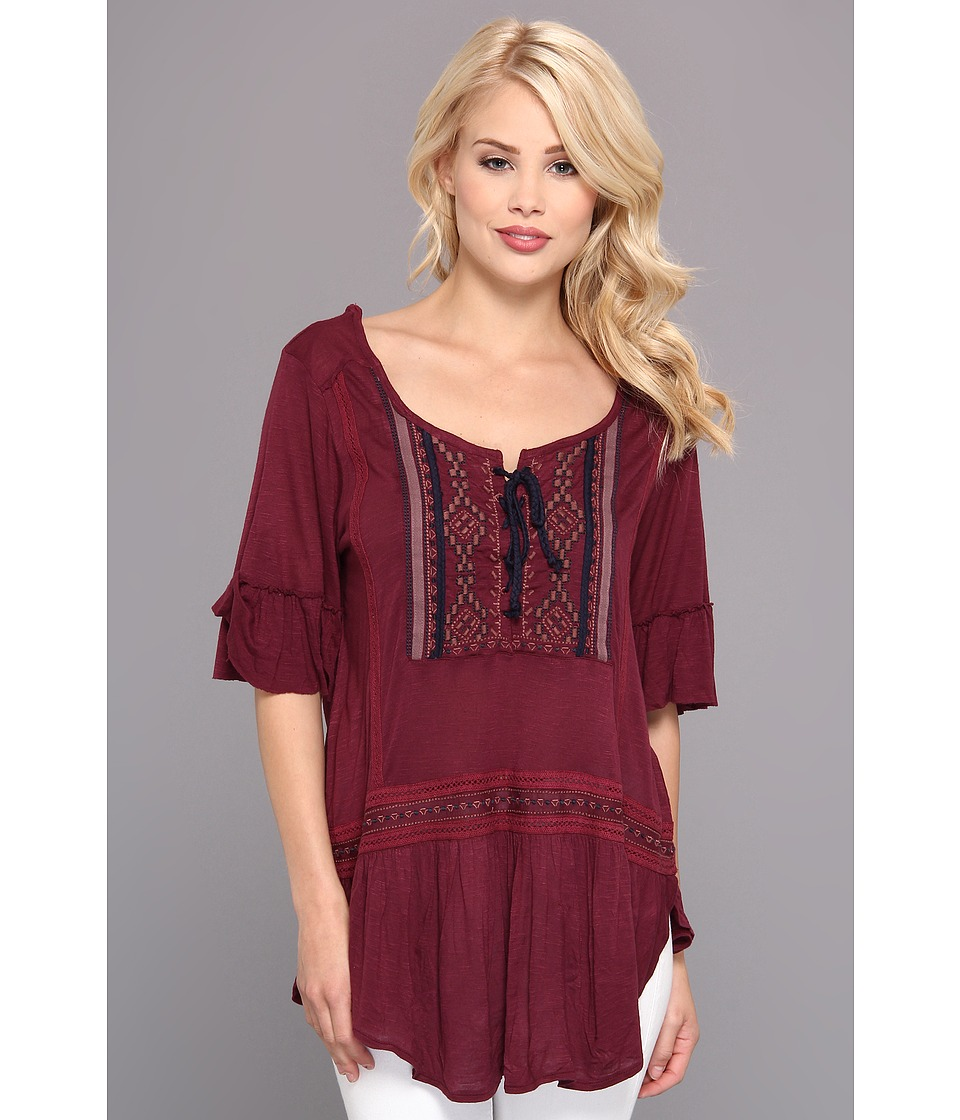 Free People - El Mirage Top (Plumberry) Women's Blouse