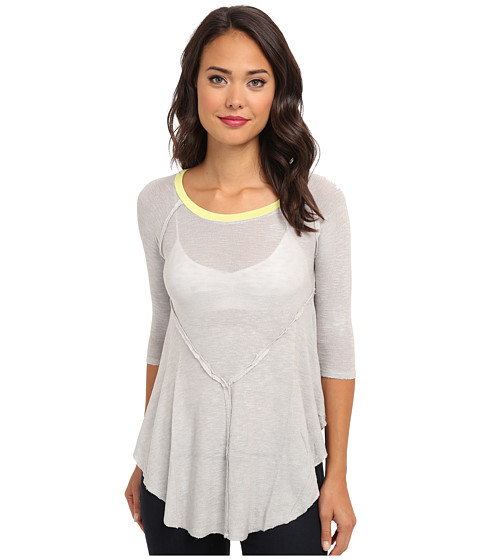 Free People - Weekends Layering Top (Light Grey) Women's Blouse
