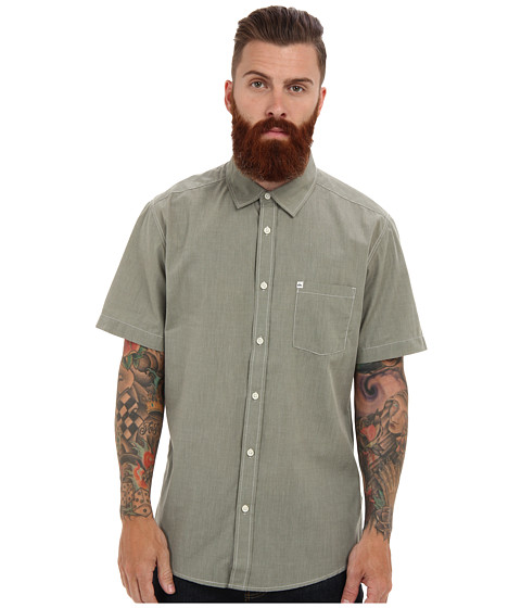 Quiksilver - Allman Short Sleeve Woven Shirt (Beetle) Men's Short Sleeve Button Up