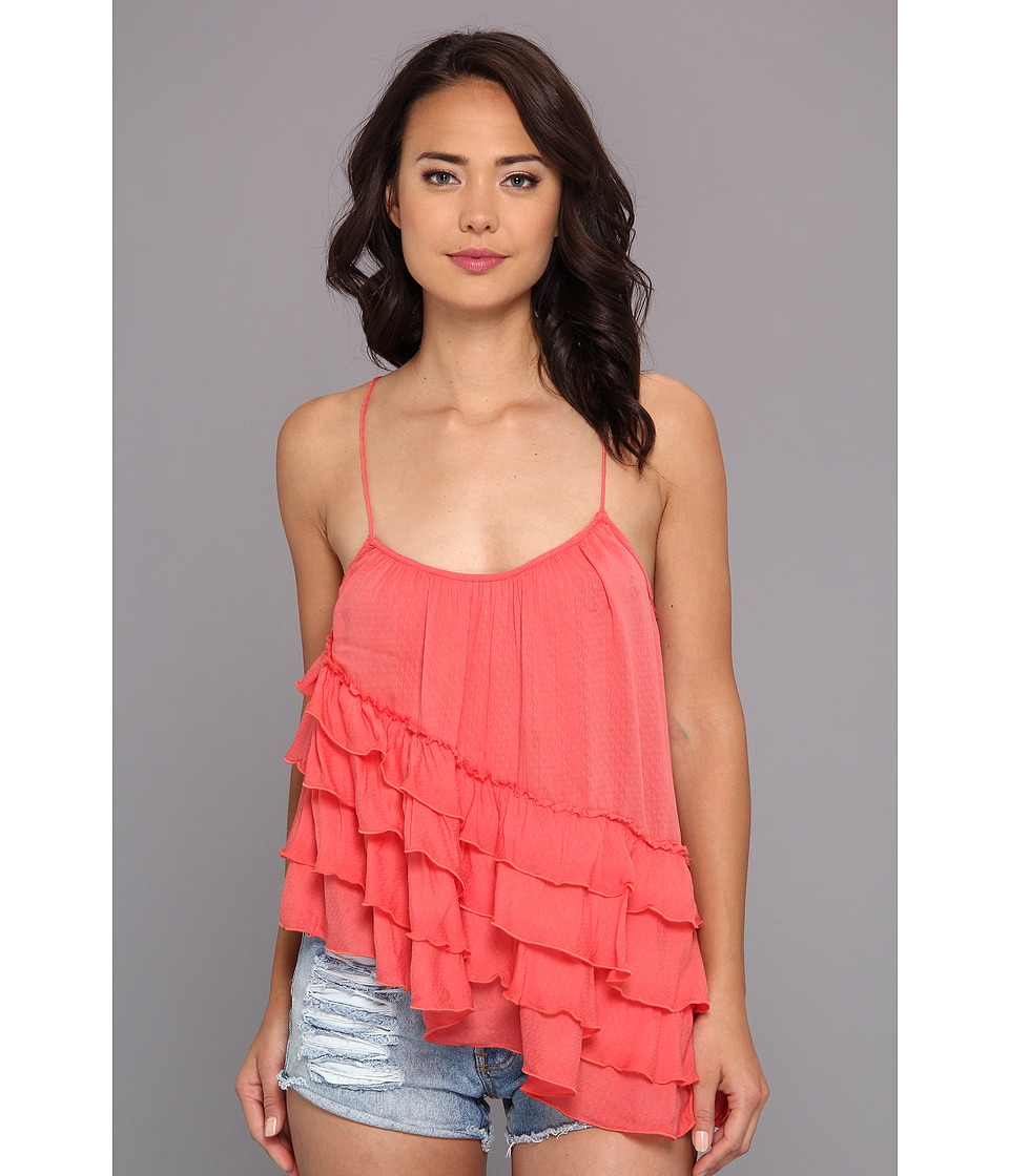 Free People - Solid Flutter By Top (Tomato) Women's Sleeveless