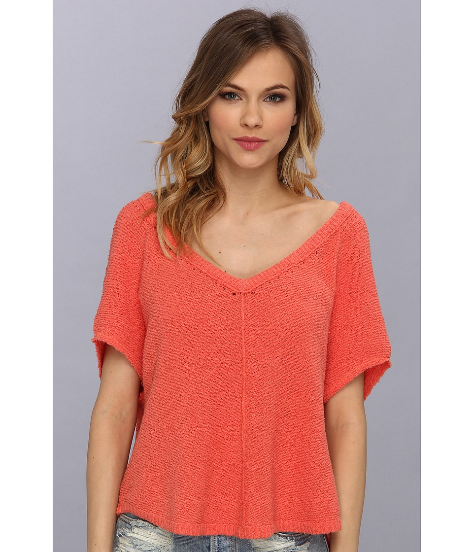 Free People - Summer Romance Sweater (Cherry Combo) Women's Sweater