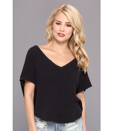 Free People - Summer Romance Sweater (Charcoal) Women