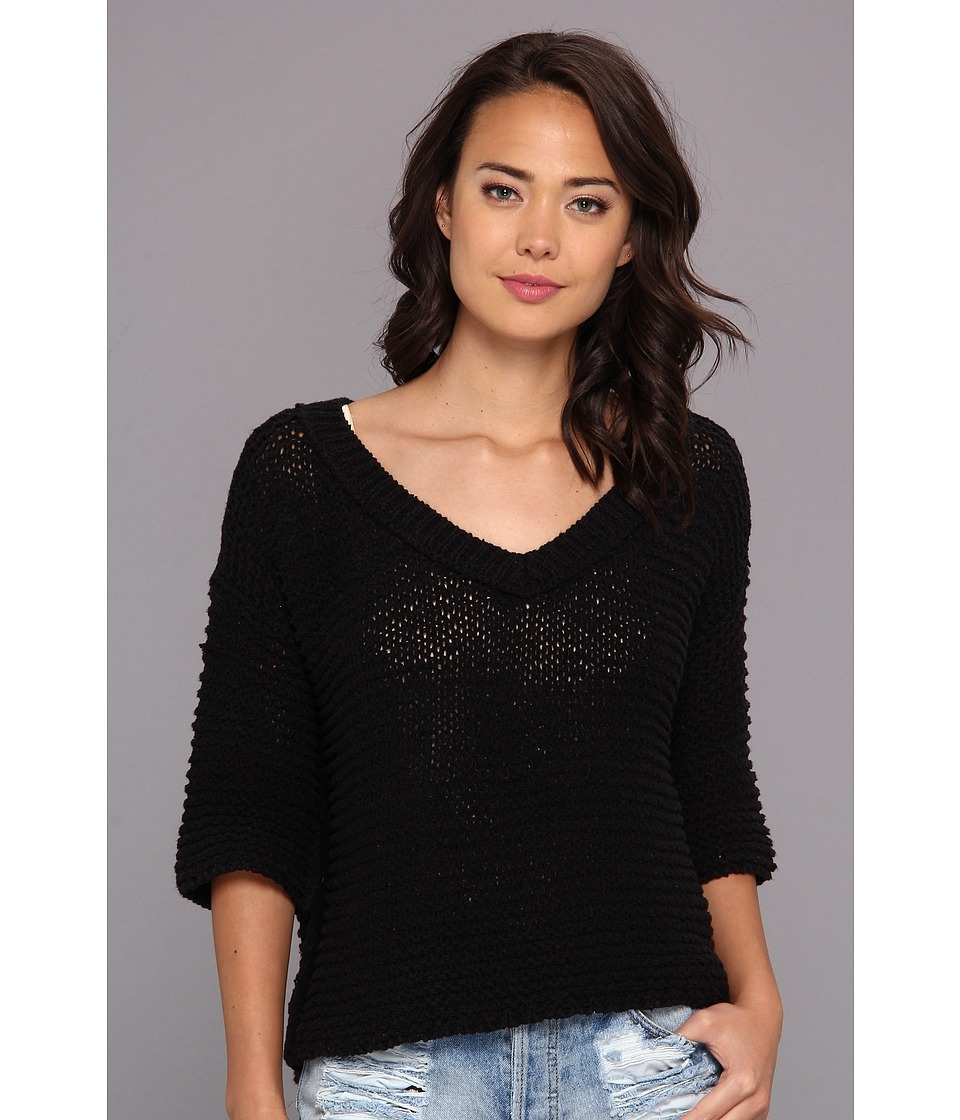 Free People - Park Slope Sweater (Black Combo) Women's Sweater