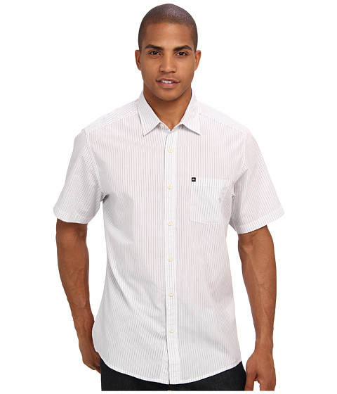 Quiksilver - Ventures Woven Top (Gravel) Men's Short Sleeve Button Up