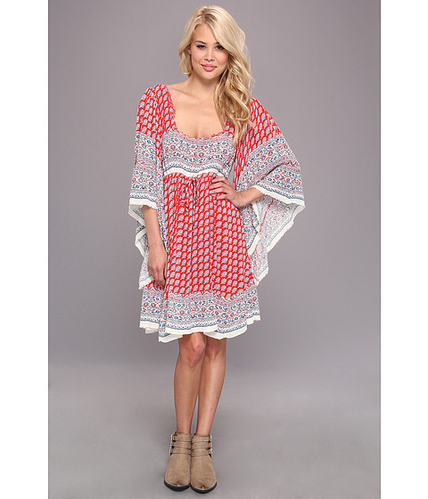 Free People - Heart Of Gold Mini Dress (Red Combo) Women