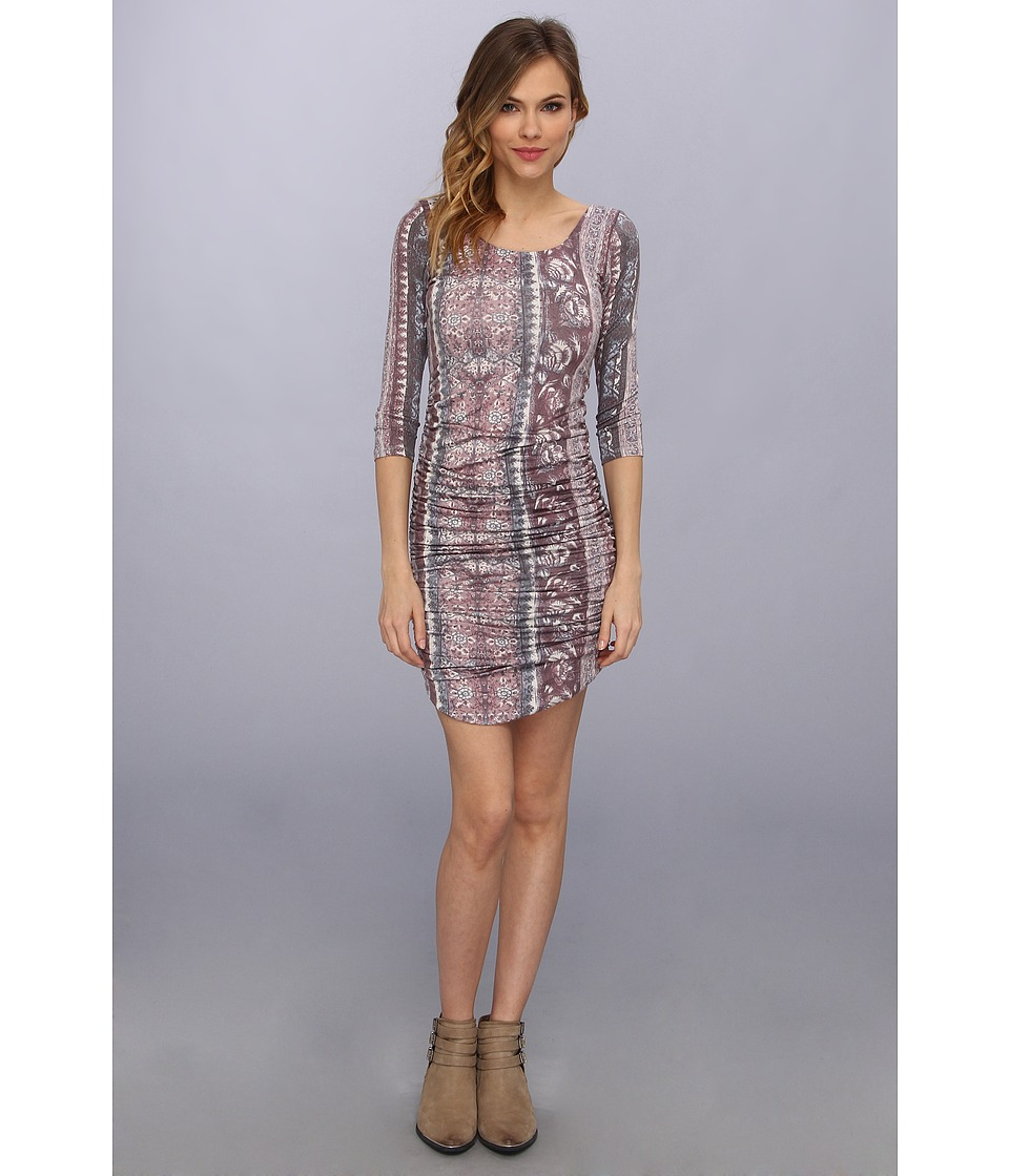 Free People - Jasmine Mini Dress (Eggplant Combo) Women's Dress