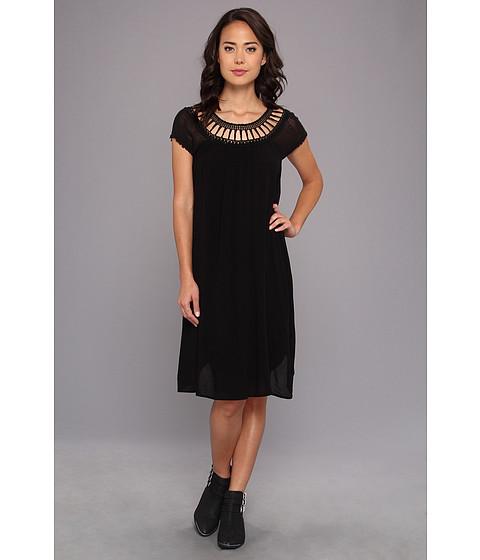 Free People - Sundancer Dress (Black) Women's Dress