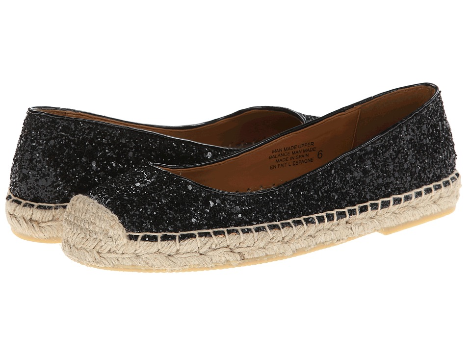 Seychelles - Don't Rush (Black Glitter) Women's Flat Shoes