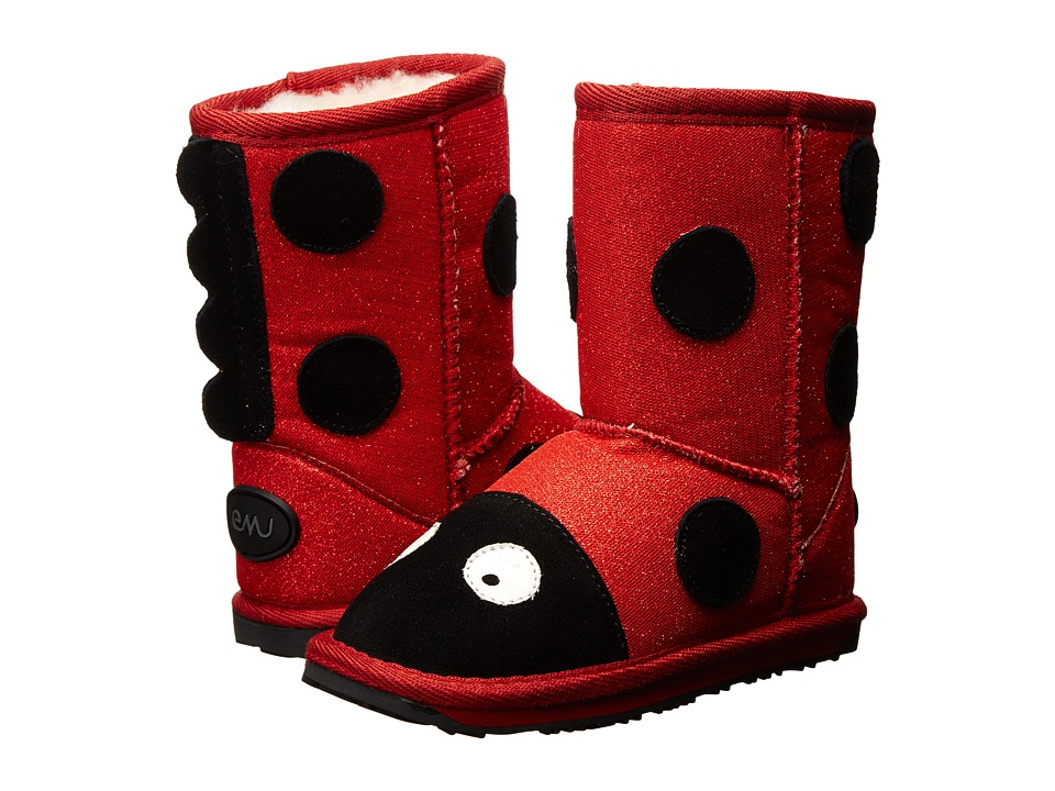 EMU Australia Kids - Little Creatures Ladybird Sparkle (Toddler/Little Kid/Big Kid) (Red Sparkle) Girls Shoes
