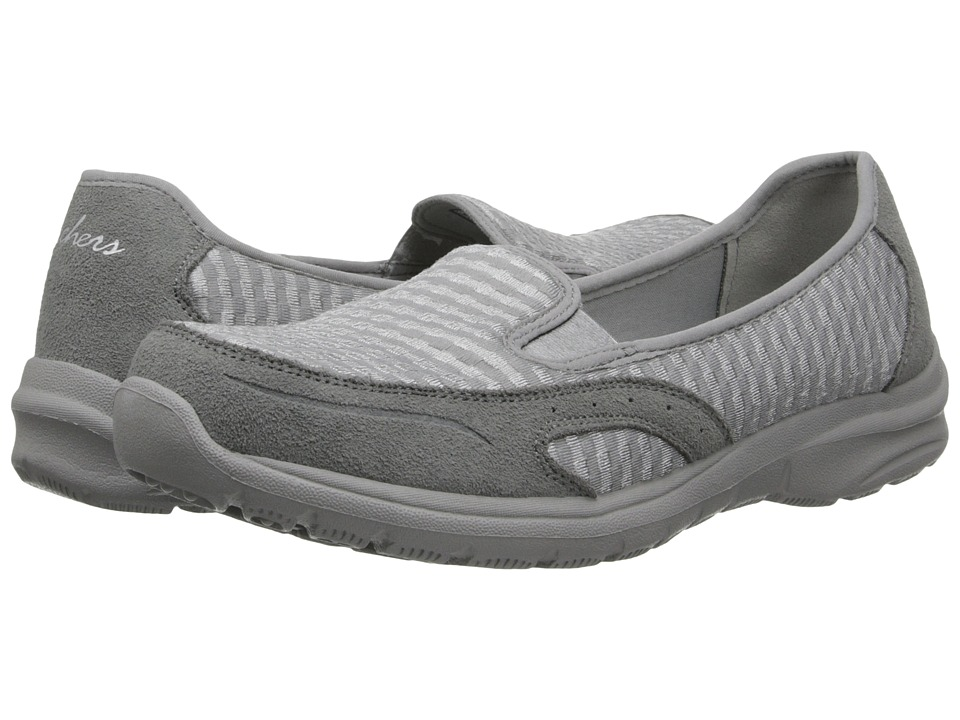 SKECHERS - Relaxed Fit - Relaxed Living-Comforter (Grey) Women's Slip on Shoes