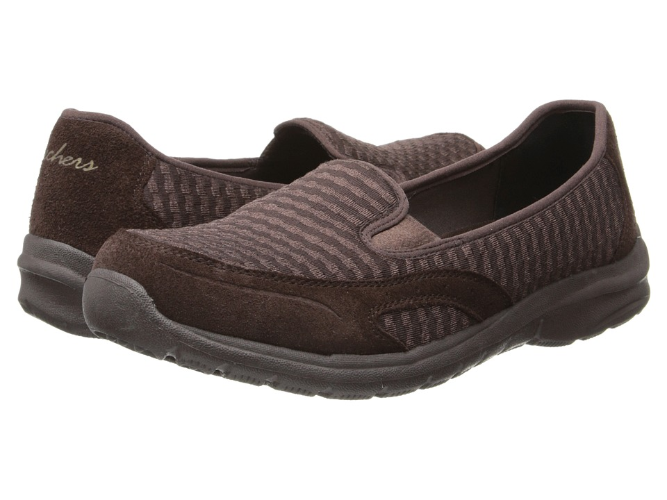 SKECHERS - Relaxed Fit - Relaxed Living-Comforter (Chocolate) Women's Slip on Shoes
