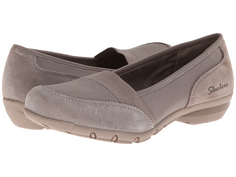 SKECHERS - Relaxed Fit - Career- 9 to 5 (Taupe) Women's Flat Shoes