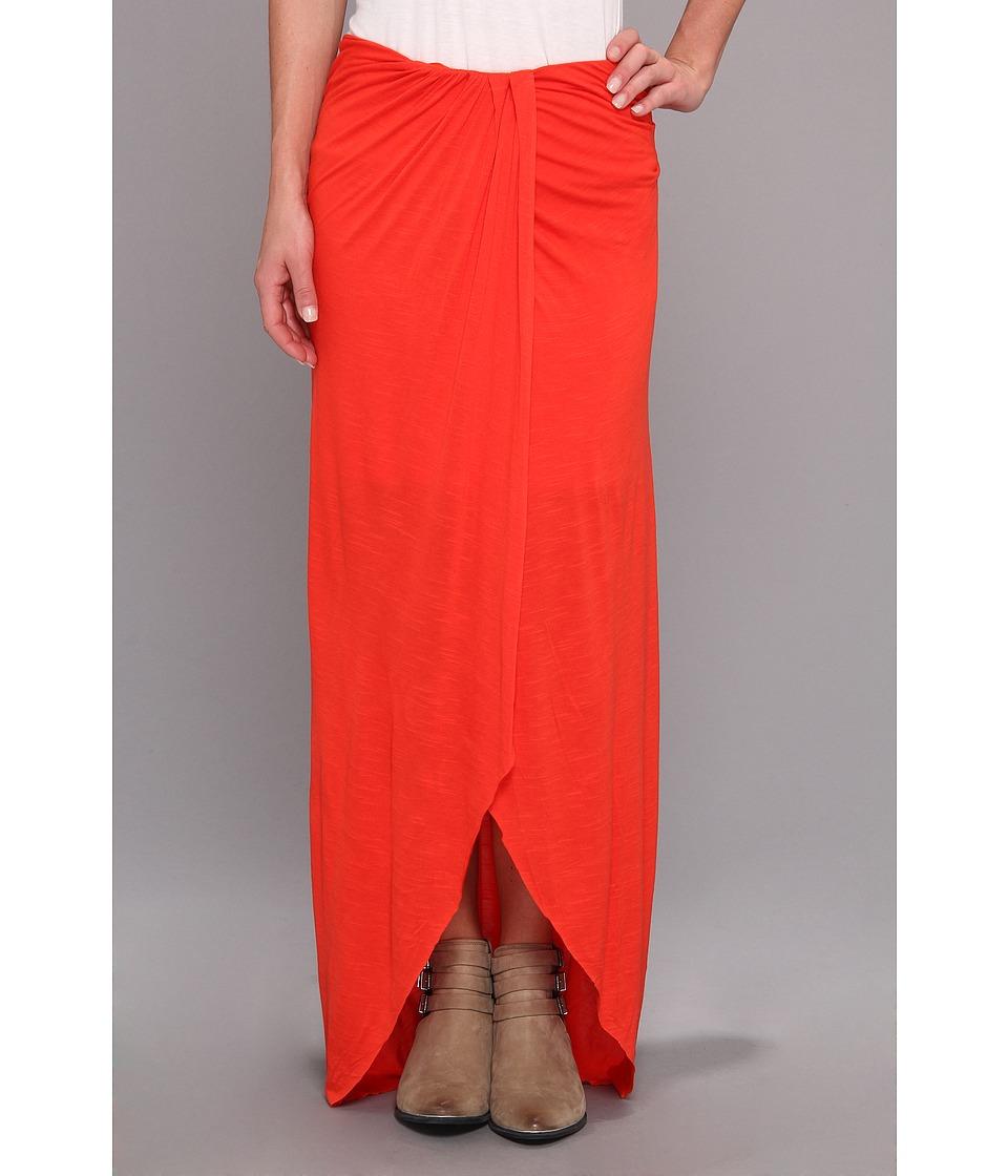 Free People - Slubby Column Skirt (Pimento) Women