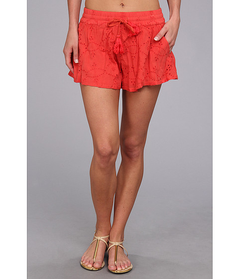 Free People - Eyelet Embellished Short (Tomato) Women's Shorts