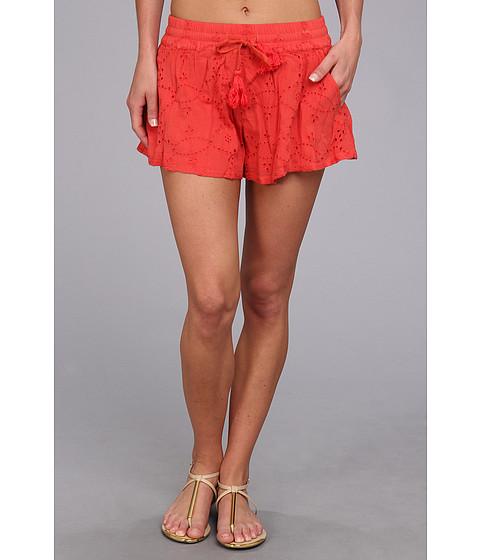 Free People - Eyelet Embellished Short (Tomato) Women's Shorts