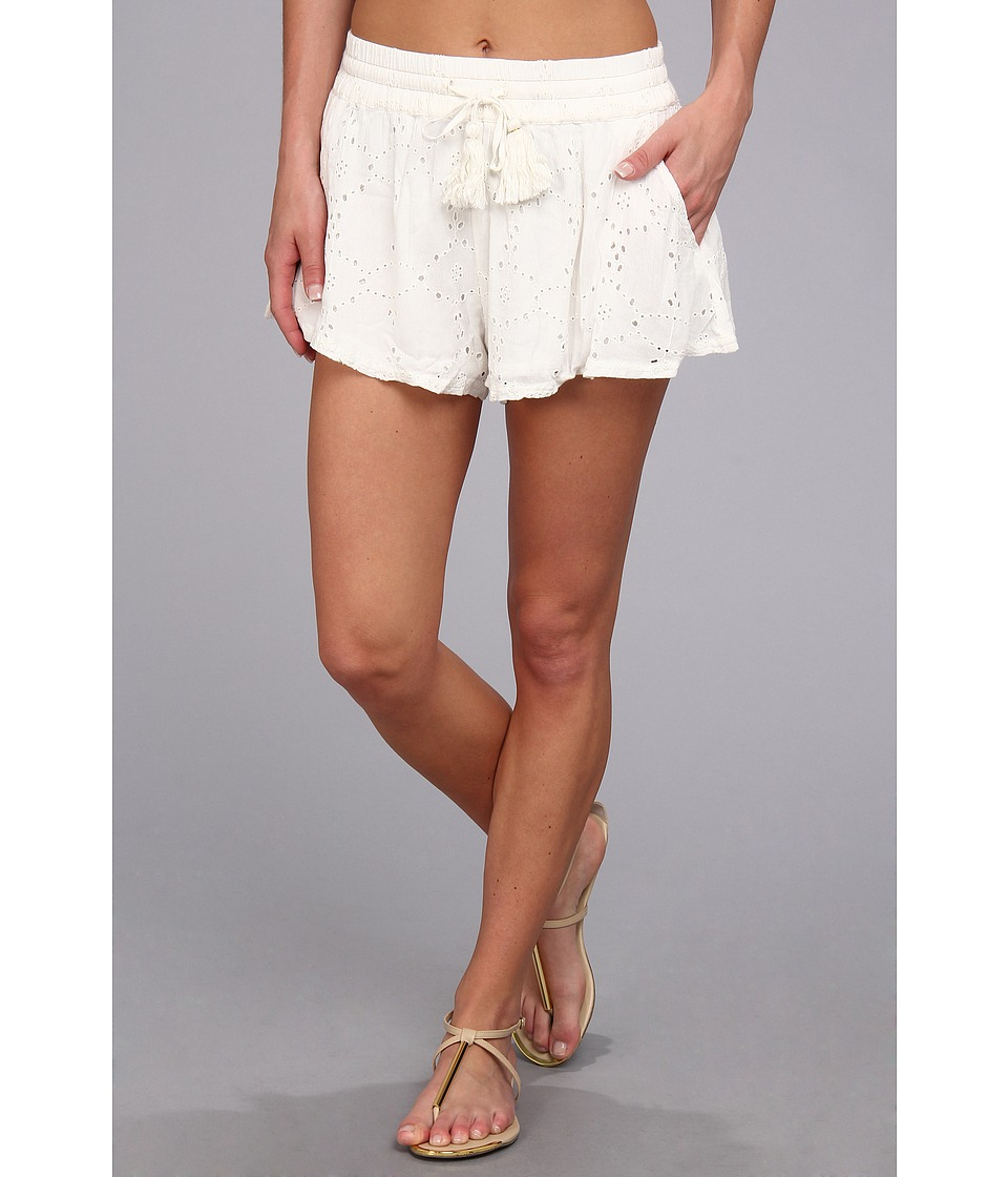Free People - Eyelet Embellished Short (Ivory) Women's Shorts
