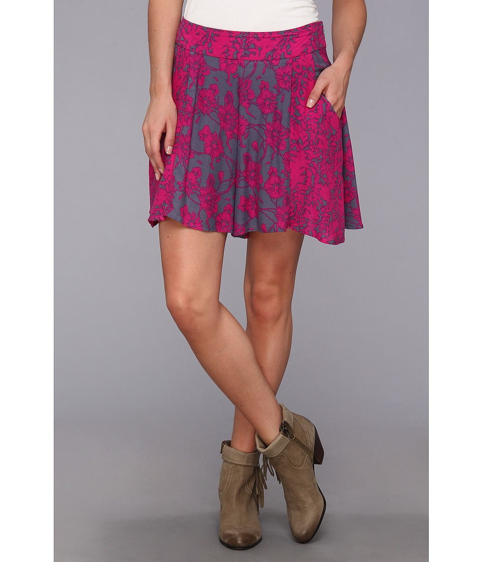 Free People - High Rise Culotte Short (Vivid Purple Combo) Women