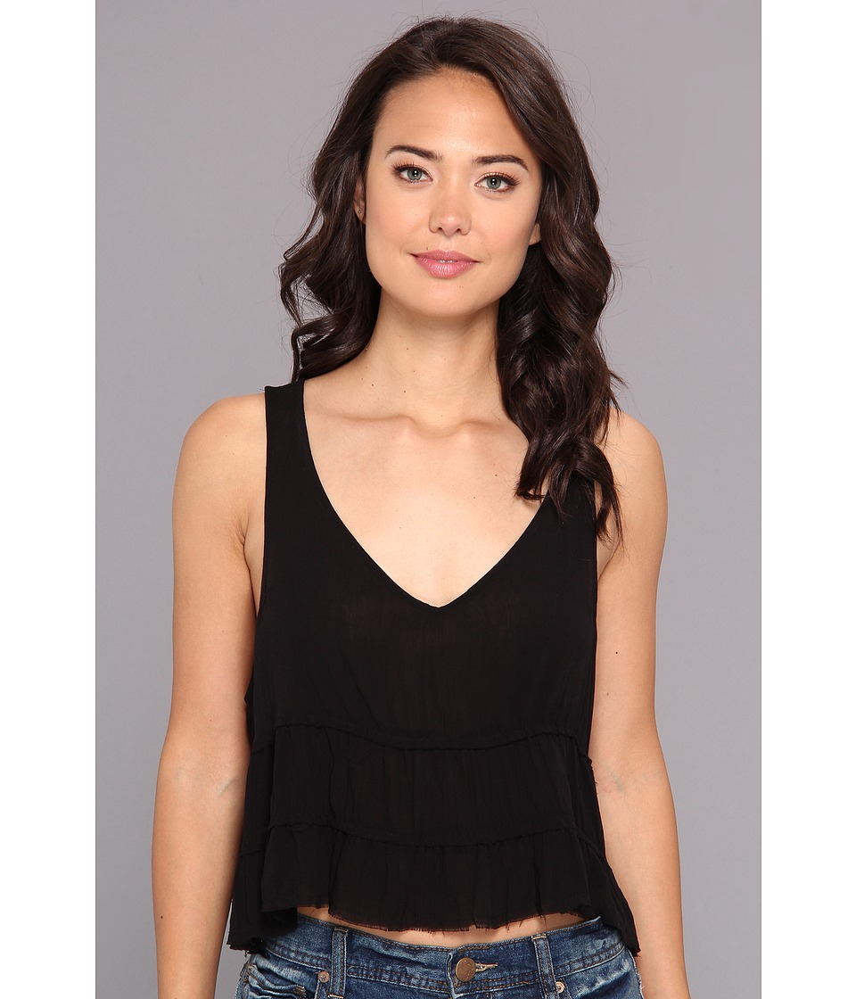Free People - Solid Crinkle Breeze Cami (Black) Women's Blouse