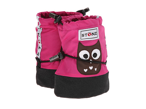 Stonz - Booties (Toddler) (Owl/Fuchsia) Girls Shoes
