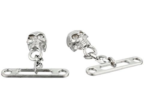 Alexander McQueen - Chain Skull Cufflinks (Dark Silver) Cuff Links