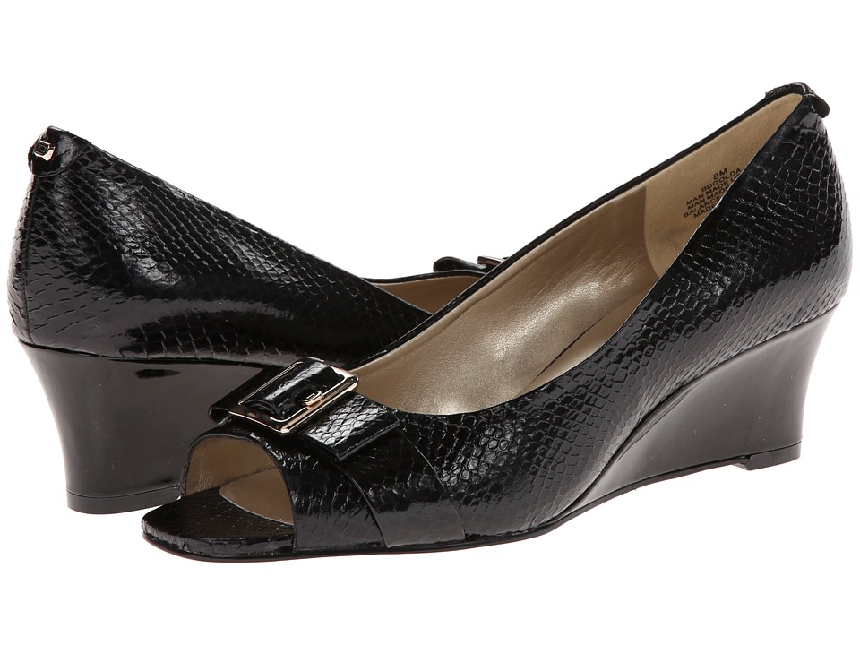 Bandolino - Golda (Black/Black Synthetic) Women's Wedge Shoes