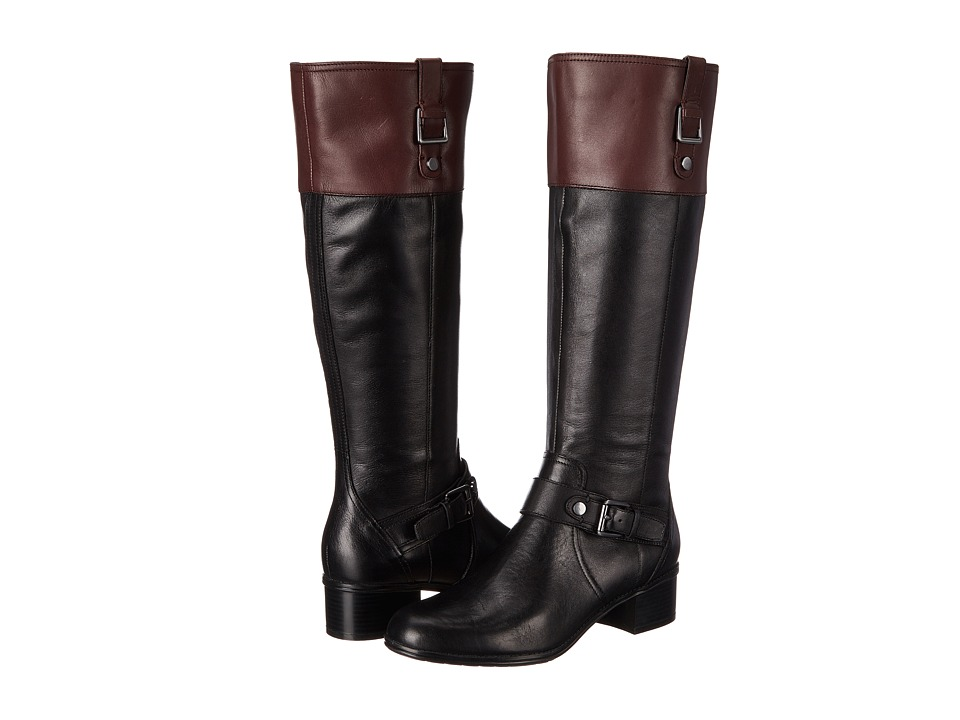 Bandolino - Cranne (Black/Wine) Women's Zip Boots