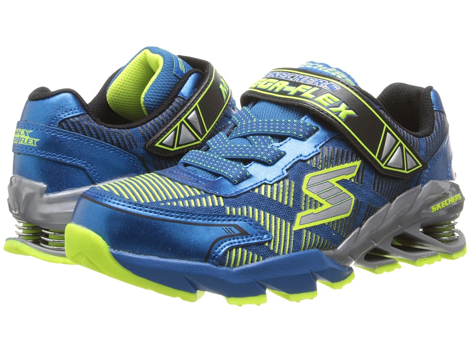 SKECHERS KIDS - Mega Flex - Mega Blade 95556L (Little Kid/Big Kid) (Blue/Yellow) Boy's Shoes