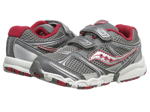 Saucony Kids - Baby Catalyst HL (Toddler) (Grey/Red) Boys Shoes